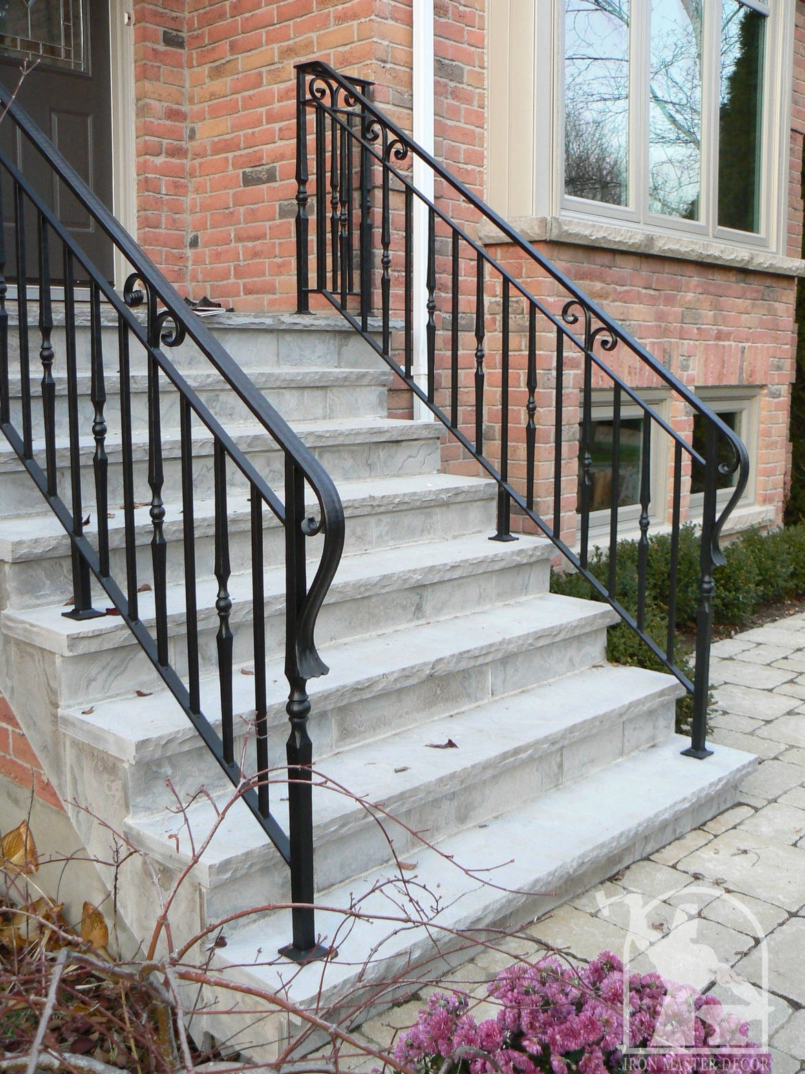 Wrought iron exterior railings photo gallery master