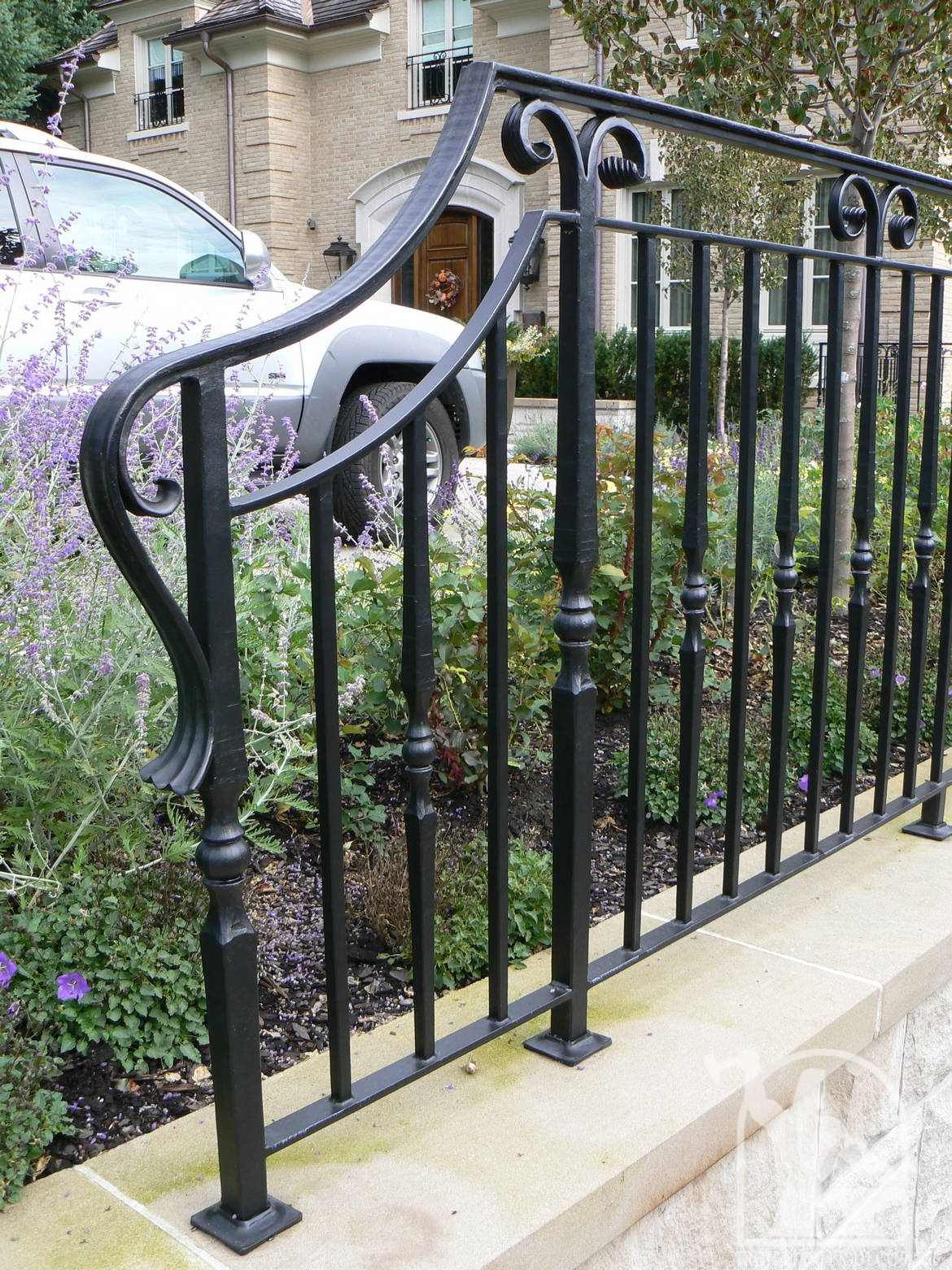 Wrought Iron Exterior Railings Photo Gallery