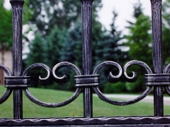 hand forged custom fence'