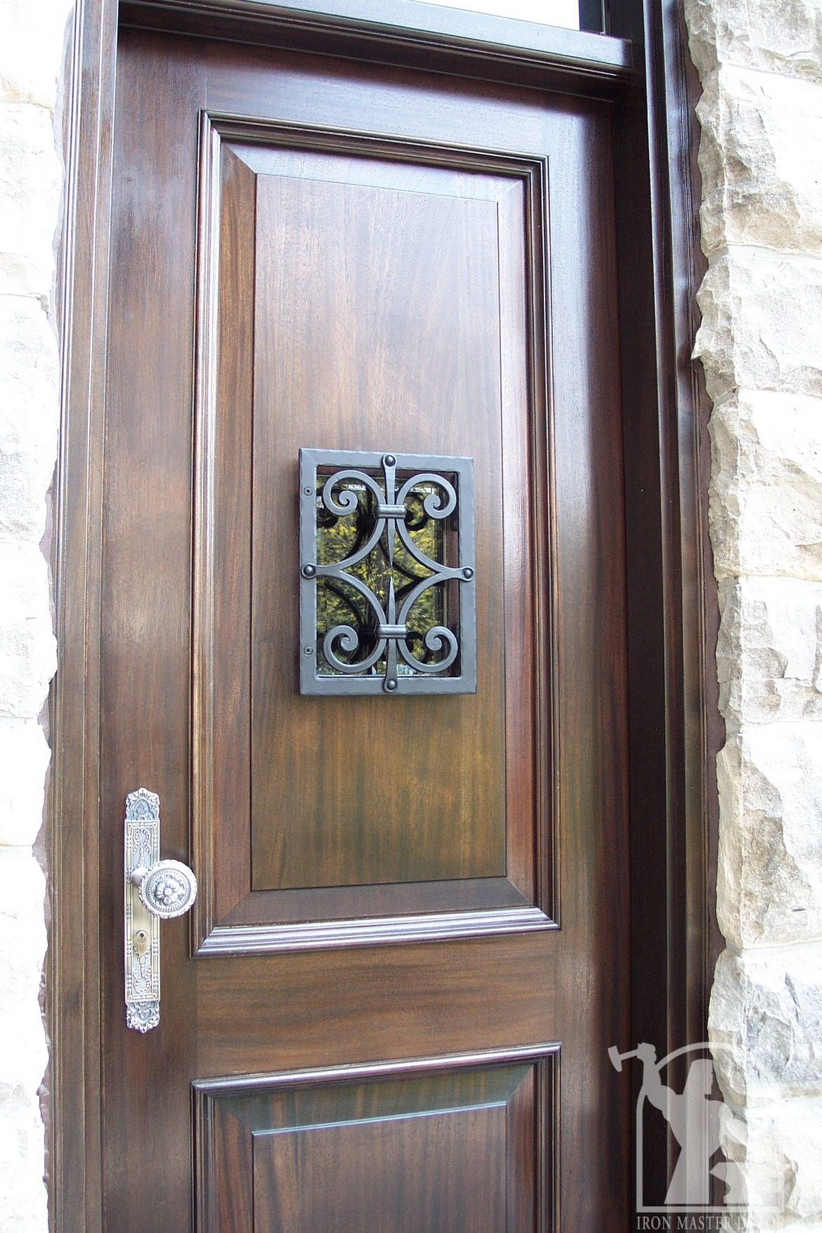 1755 #4B6480 Wrought Iron Front Door Photo Gallery Iron Master picture/photo Rod Iron Front Doors 43091170