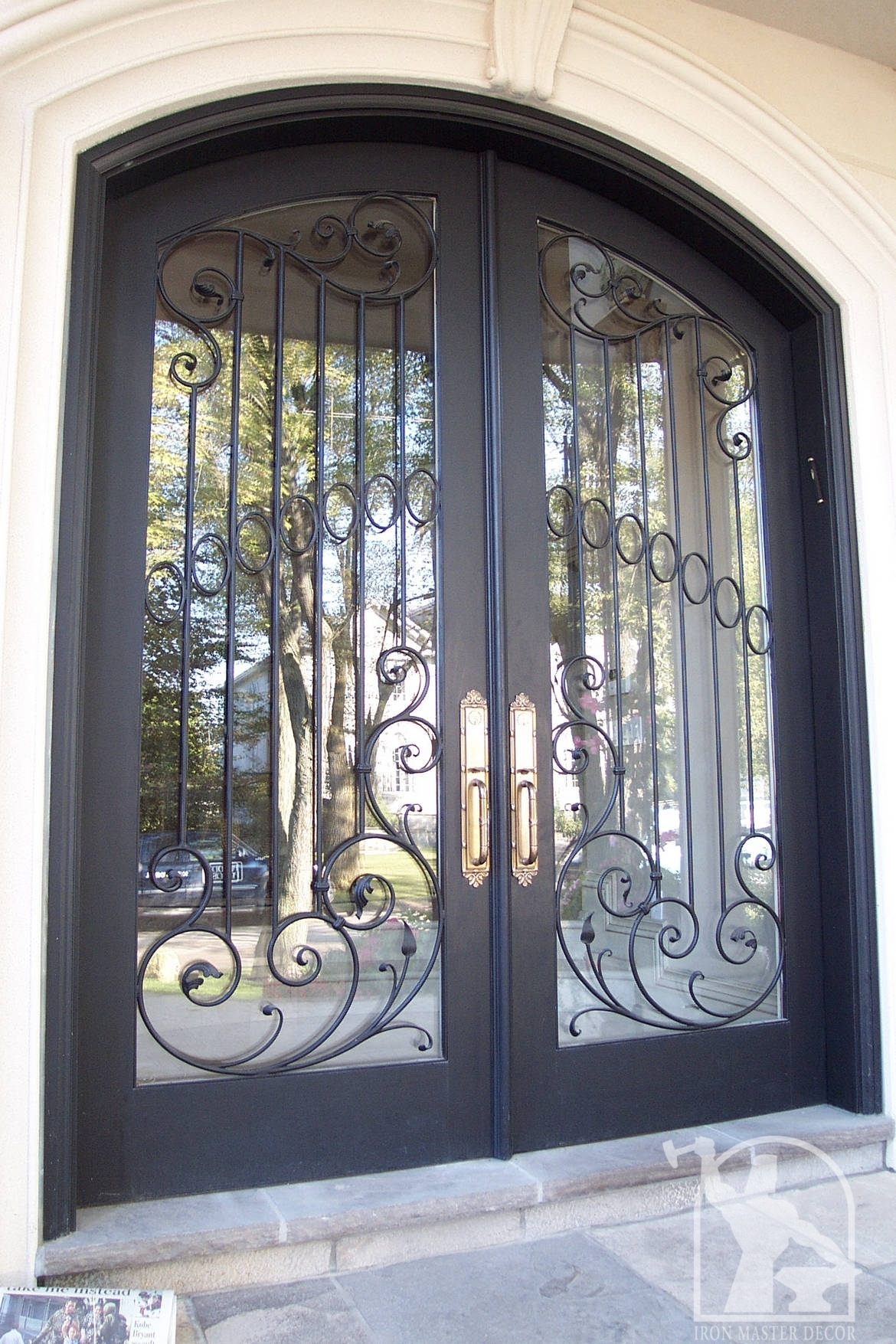 Wrought iron front door photo gallery iron master for Wrought iron doors
