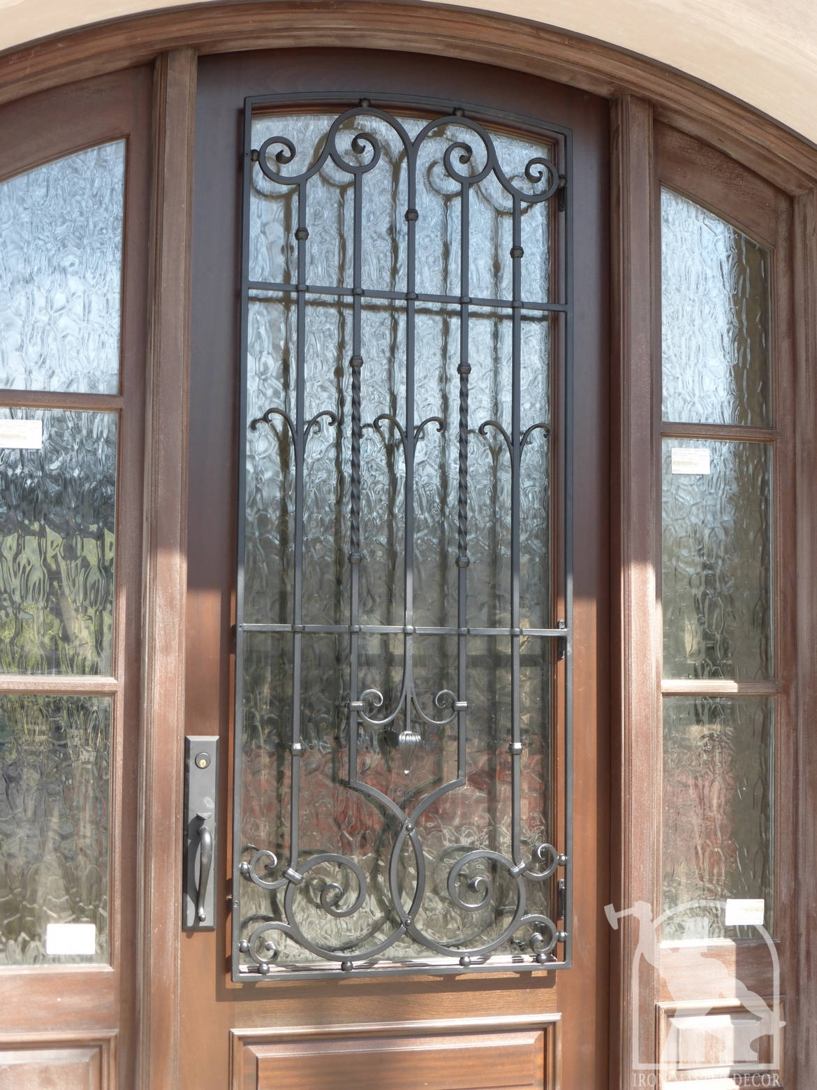 Wrought iron front door photo gallery iron master Front door grill designs india