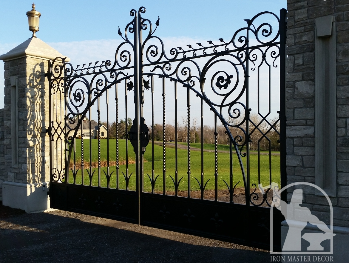 Wrought Iron Gates: Wrought Iron Gate, Iron Master, Caledon, Toronto, Aurora