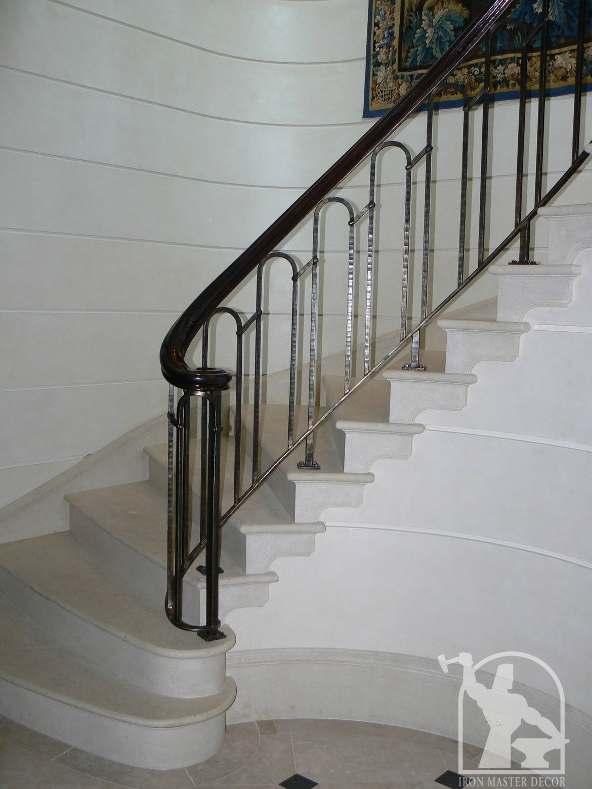 Wrought iron interior railings photo gallery iron master for Interior iron railing designs