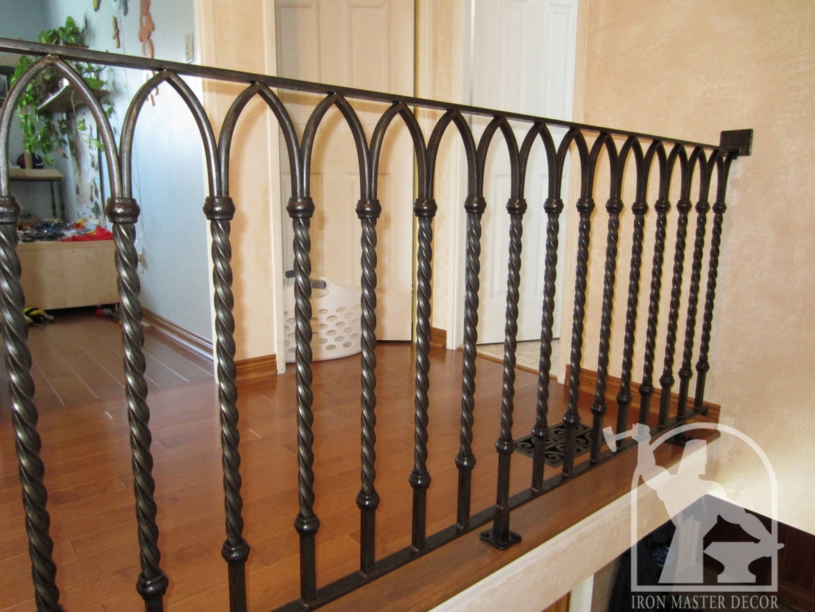 Wrought iron interior railings photo gallery iron master - Interior decorative wrought iron gates ...