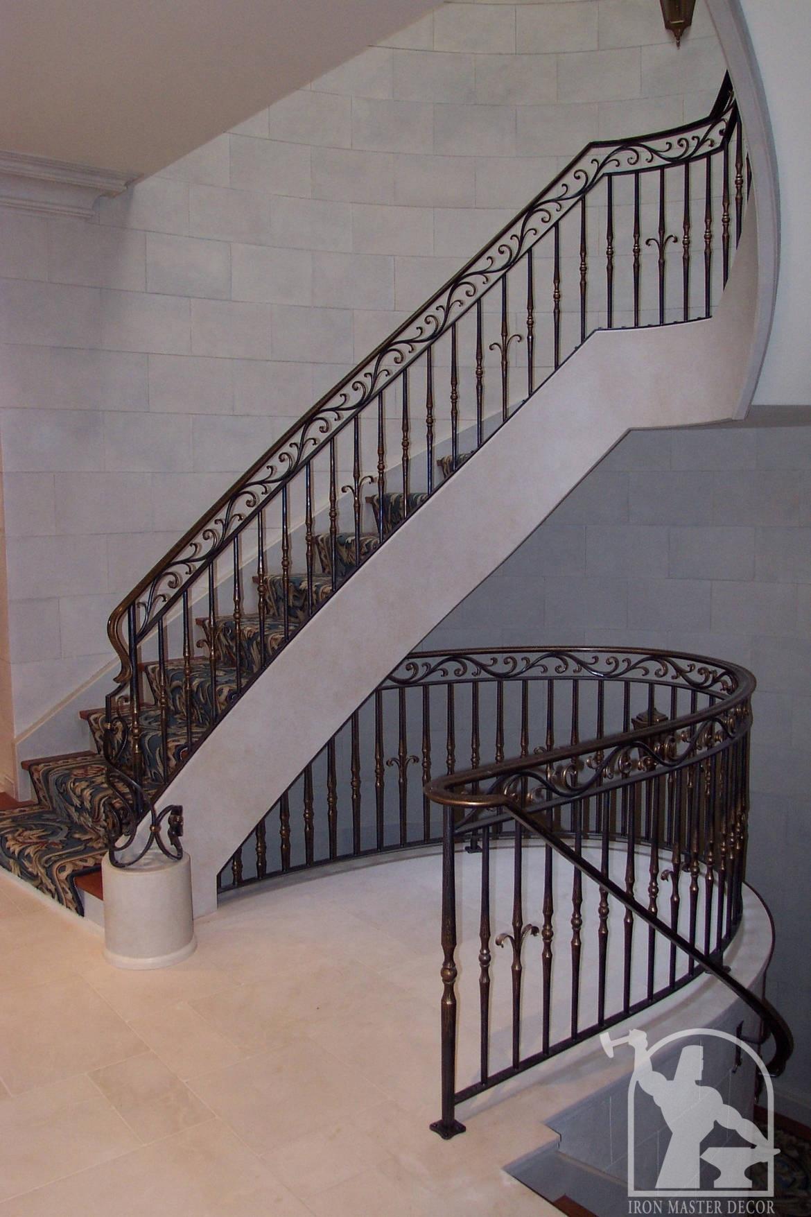 custom interior railings iron master toronto modern and traditional