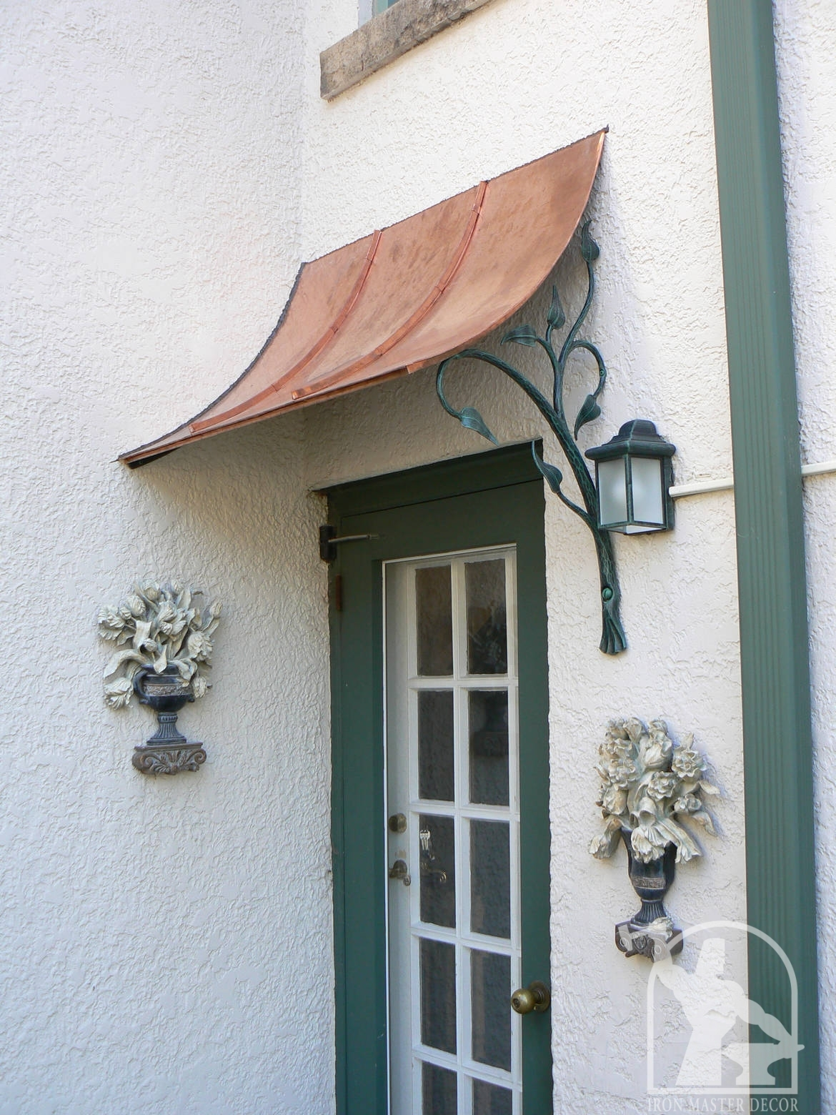 Hand Forged Wrought Iron Awning Copper